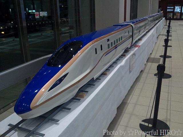 W7系車両 「かがやき」 模型展示