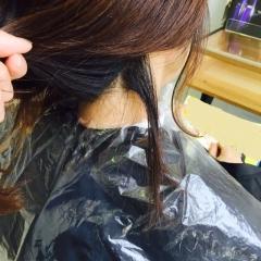 美容院にて~髪が伸びました~(術後13ヵ月)