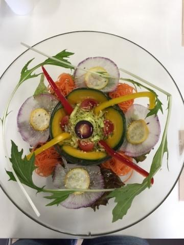 上からサラダ♪(raw food)