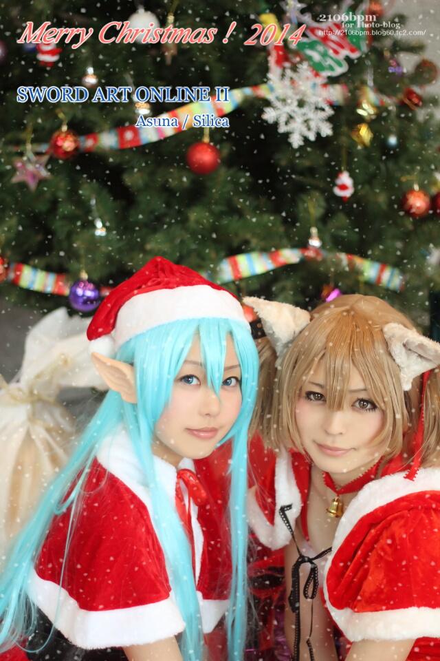 ☆まちょ/れいちぇる(ソードアート・オンラインII 月刊アニメディア2014年12月号表紙 クリスマスサンタ衣装 あわせ)@CARATO71☆