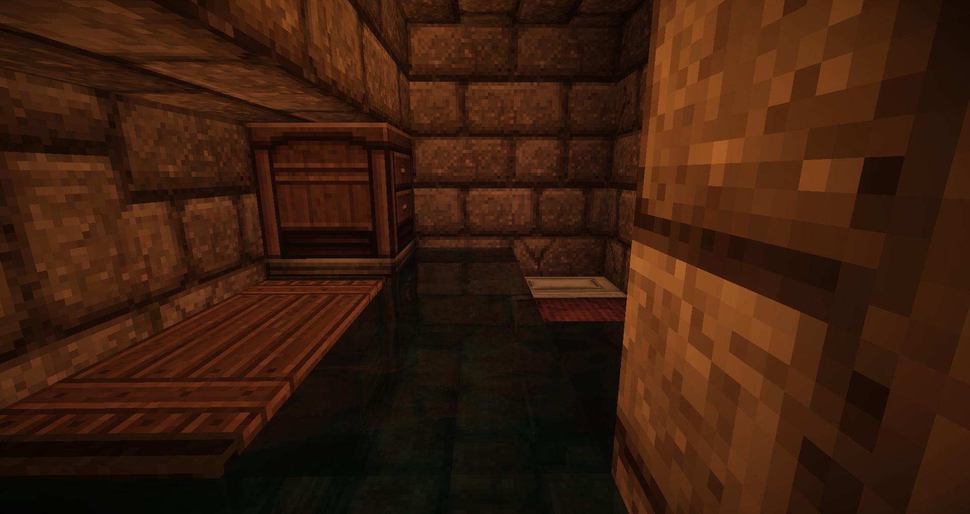 水没した部屋