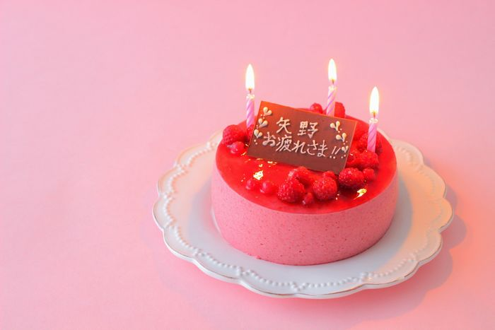 706陶子ケーキ横ろうそく