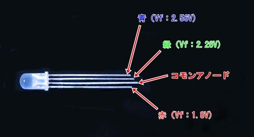 RGB LEDピン配置