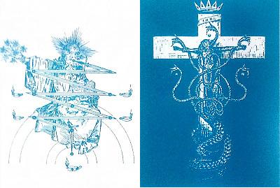 アデプテスマイナー儀式で使われる棺桶の表裏 by占いとか魔術とか所蔵画像