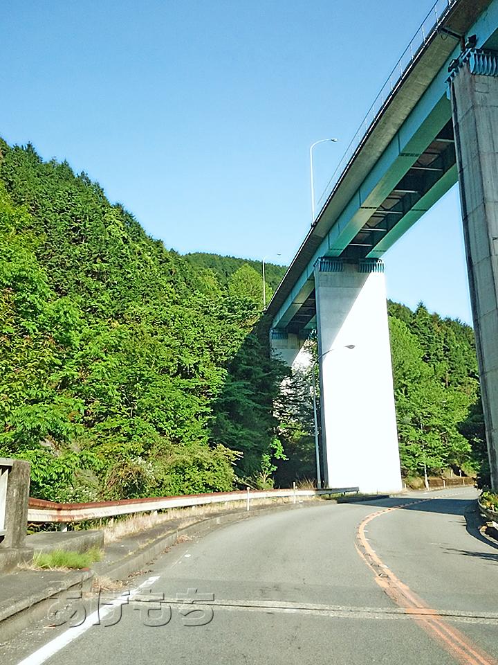 人吉ループ橋。見下ろすのも怖いけど、見上げるのも怖い・・・。