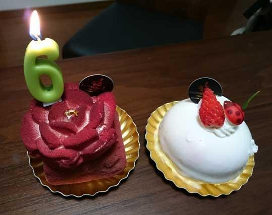 ハーフバースデーケーキ