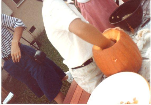 ハローウィーンのかぼちゃ1982.10.30.542