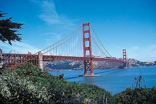 サンフランシスコ観光の目玉、ゴルデンゲート・ブリッジ