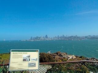 アルカトラズ島から見たサンフランシスコの街並み