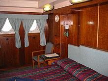 ロングビーチ・クイーンメリー号の1等船室