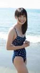 AKB48 佐々木優佳里 セクシー ハイレグワンピース水着 おっぱいの谷間 笑顔 脇 高画質エロかわいい画像9084
