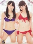 SKE48 二村春香 竹内舞 セクシー ローレグビキニ水着 おっぱいの谷間 おへそ 太もも 誘惑 高画質エロかわいい画像9205