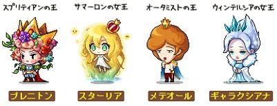 スターワールドの王と王女