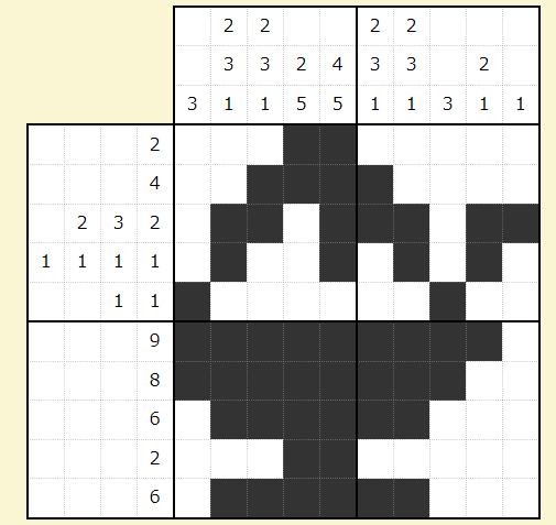お絵描きパズルの答え