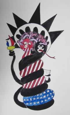 妖怪自由の女神メデューサ