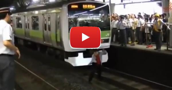 【動画】通勤ラッシュの山手線をストップ→キチガイ犯の一部始終