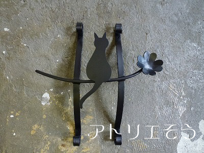オリジナルアルミ妻飾りDタイプ+猫