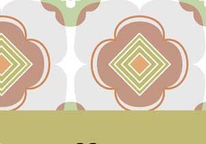 背景素材 レトロ花柄