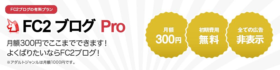 FC2 ブログ Pro 有料プラン