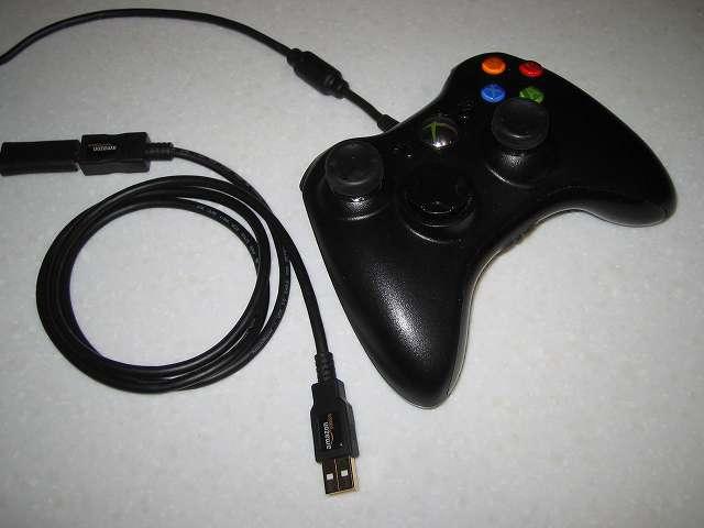 Amazonベーシック USB 2.0 延長ケーブル 1.0m (タイプAオス - タイプAメス) に Xbox 360 コントローラー(ブラック) の USB ケーブルを接続