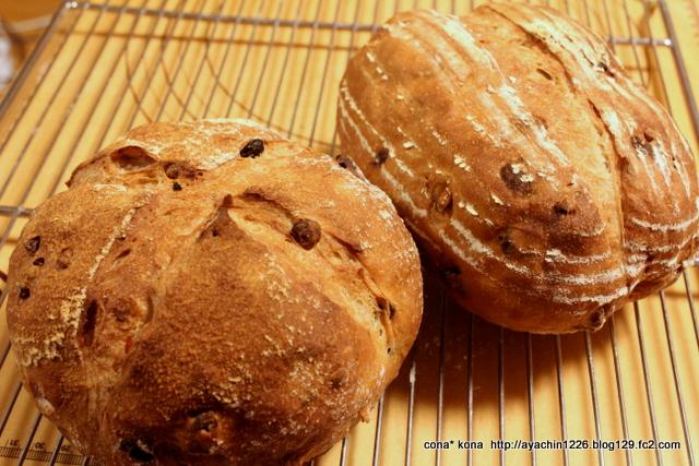 14.12.27レーズンと胡桃のパン