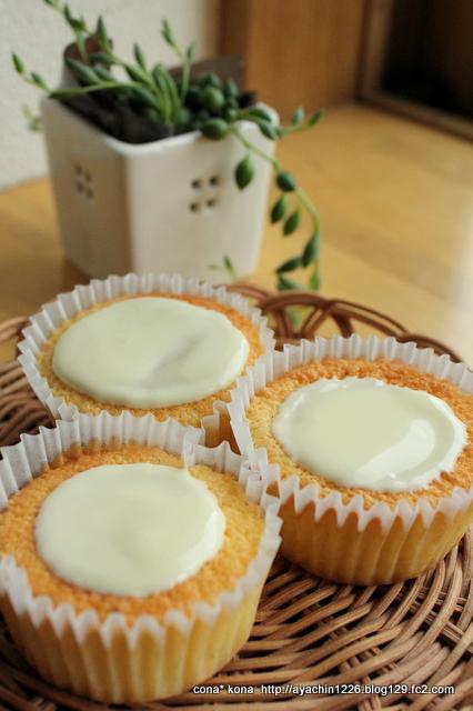 レモンとバニラの軽いケーキ