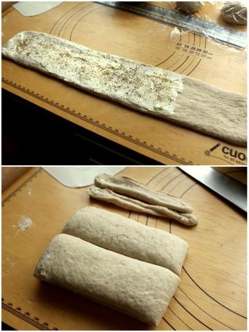 クリームチーズとペッパー風味のカンパーニュ4
