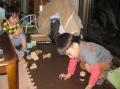 孫達と積み木遊び