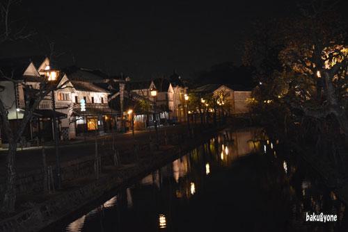 倉敷川沿いの夜景_001