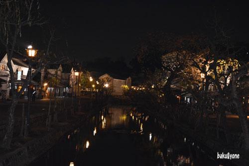 倉敷川沿いの夜景_002