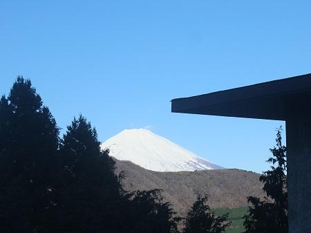 食堂から富士山
