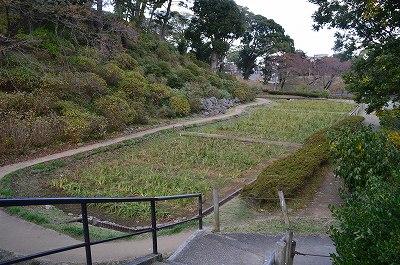 小田原城本丸東の堀跡