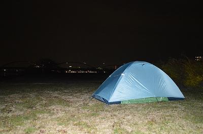 今年最後のテント