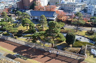 二の丸が日本庭園に