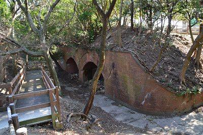 生石公園の要塞跡
