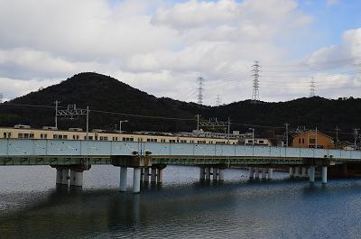 電車と徒歩の橋