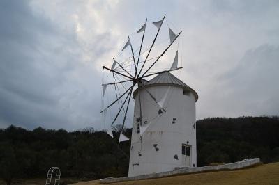 オリーブ公園のギリシャ風車