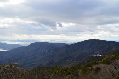 寒霞渓を見下ろす