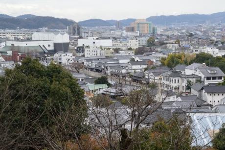 高所から見下ろす美観地区