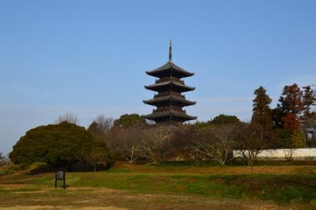 吉備路に現る備中国分寺の五重塔