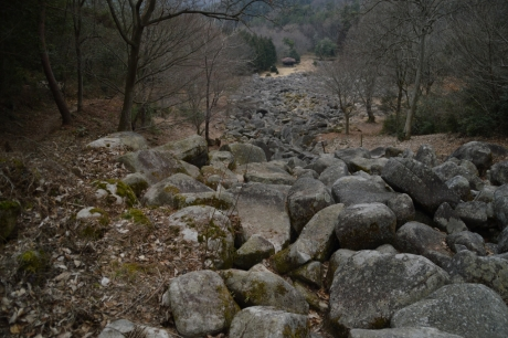 岩の川のようだ