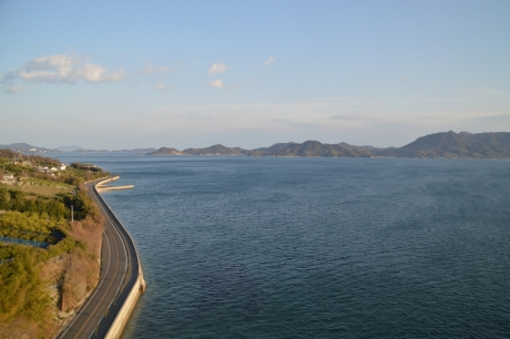 多々羅大橋からの眺めが一番きれい