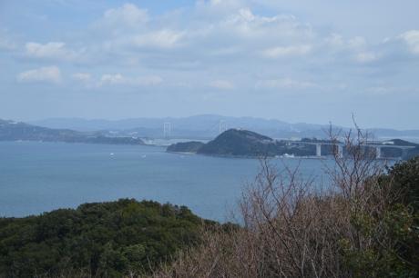 遠くに映える大鳴門橋