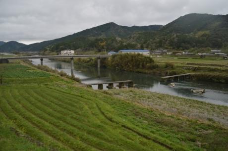 9崩壊した沈下橋
