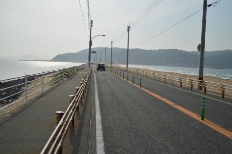 10海ノ中道を通って志賀島へ