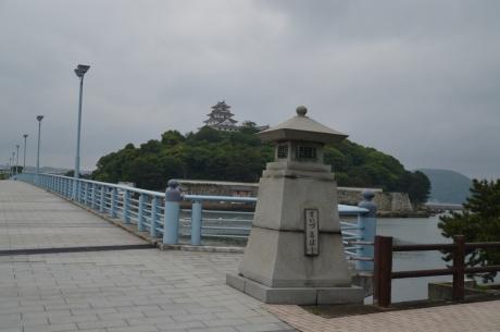 8橋から見える唐津城