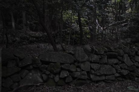2石垣がある山
