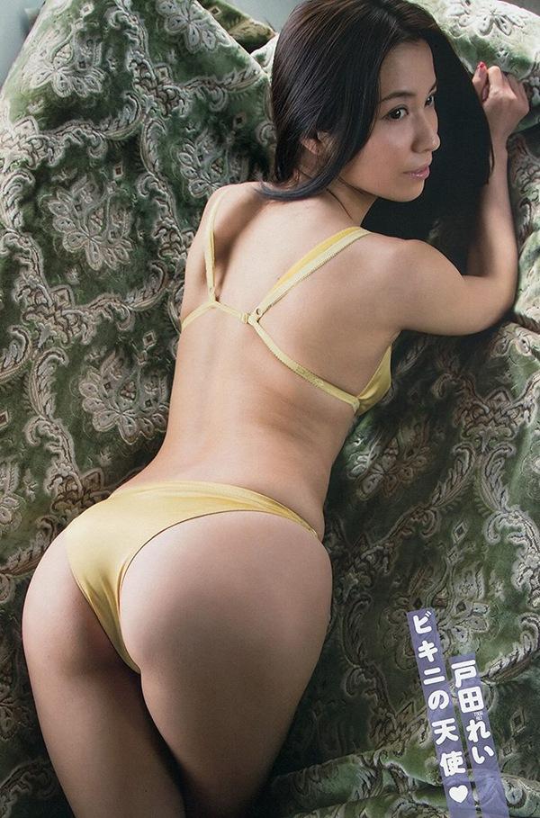 【戸田れい】美乳おっぱい下着の下から全裸セミヌードエロ
