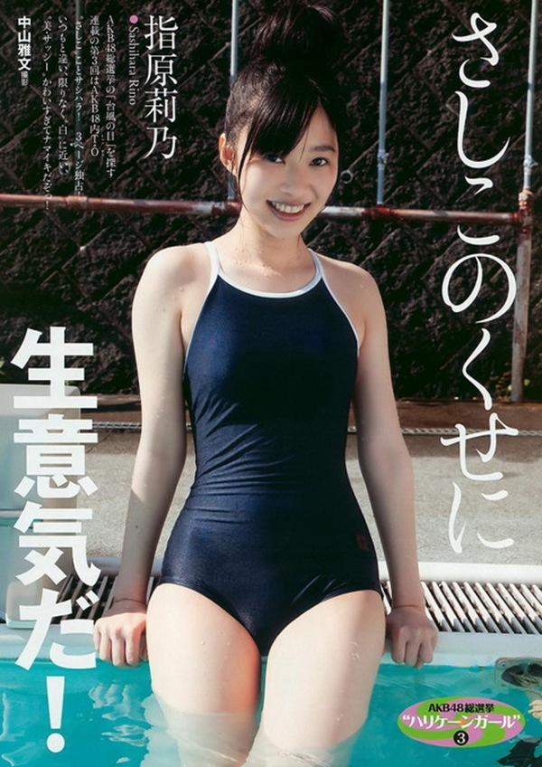 【競泳水着】スク水でボディライン過激丸見え画像