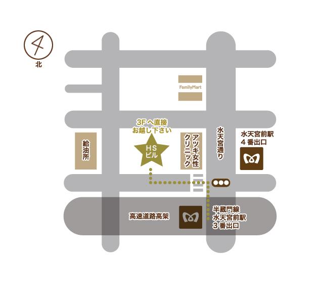 水天宮サロン地図